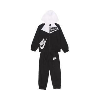 NIKE 耐克 轻盈防风 男小大童款透气内衬舒适长袖连帽外套套装 两件套