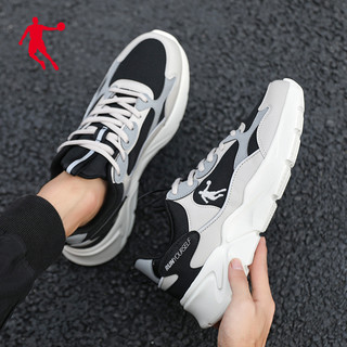 QIAODAN 乔丹 运动鞋男鞋2021夏季透气跑鞋男士休闲鞋子跑步鞋减震超轻网鞋