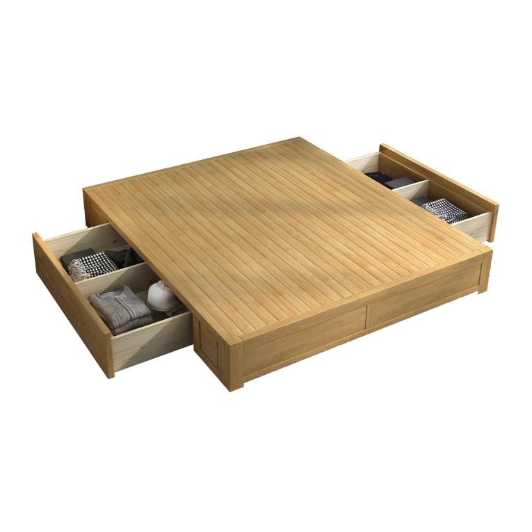 无床头实木单床 框架结构 1.5m
