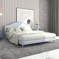 喜临门床 防水科技布面料软床 单双人大床 现代简约婚床 自由 密色青1500*2000