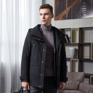 BOSIDENG 波司登 鹅绒运动时尚休闲连帽款中长款保暖男式羽绒服
