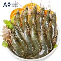 万景 国产活冻白虾  净重1kg