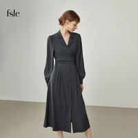 FANSILANEN 范思蓝恩 女子设计感衬衫连衣裙 213242