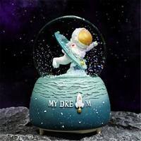 悟道猴  异时空宇航员水晶球摆件  灯光音乐星空蓝