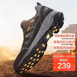 TFO 徒步鞋 男女款防滑减震户外鞋 舒适透气登山鞋842989 男款深灰色 41