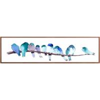 好久不见 现代简约装饰画 彩色羽毛 C款 52×152cm 床头挂画 客厅餐厅壁画 沙发背景墙画