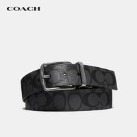 COACH 蔻驰 奢侈品 男士PVC腰带皮带黑色 F64839 CQBK