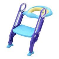Huilotto 惠乐多 8809 婴儿坐便梯 PU软垫款 蓝紫色