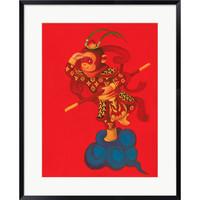 ARTMORN 墨斗鱼艺术 陈建周 原创签名限量版画《美猴王LV牌》60x45cm 范泰克美术纸 限量99版 展览级手工装裱