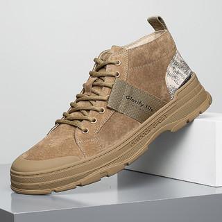 HLA 海澜之家 2021冬季新款户外工装鞋英伦风马丁靴男鞋高帮短靴男休闲鞋