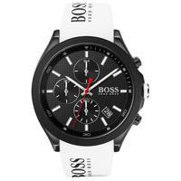 HUGO BOSS 雨果博斯 Velocity系列 男士白色硅胶表带手表