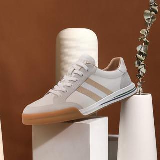 C.BANNER 千百度 21新款板鞋男士运动休闲鞋真皮皮鞋男鞋透气鞋子男