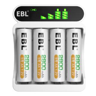 EBL 赢豹 5号镍氢充电电池 1.5V 2800mAh 8粒装