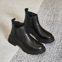 RED DRAGONFLY 红蜻蜓 2021女鞋厚底切尔西靴烟筒靴马丁靴女短靴