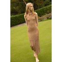 重工镂空针织连衣裙女修身2020夏装中长款法式显瘦性感包臀一步裙