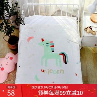 糖粿米妮婴儿浴巾纯棉透气吸水宝宝纱布浴巾110*105cm