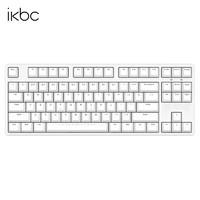 iKBC W200 87键 2.4G蓝牙 双模机械键盘 白色 Cherry红轴 无光