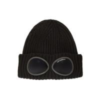 C.P.COMPANY 男女款毛线帽 黑色