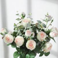 Luyue 绿跃 手捧仿真玫瑰花 奶白色