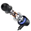 HP 惠普 DHE-7000 升级版 入耳式降噪有线耳机 黑色 Type-C