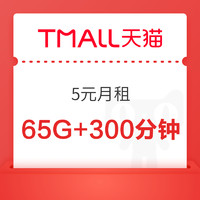 CHINA TELECOM 中国电信 5元月租 (35通用+30G定向流量+300分钟全国通话)