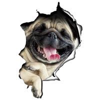 LMA 洛玛 3D个性汽车贴纸  刮痕贴 防刮花3D立体动漫搞笑创意仿真车贴 小狗