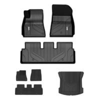 3W特斯拉ModelY专用新能源环保TPE汽车脚垫+毯面+防水尾箱垫套餐定制