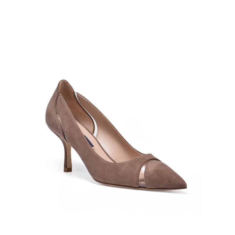 STUART WEITZMAN 斯图尔特·韦茨曼 女士磨砂皮高跟鞋 WE0904103C-BRO
