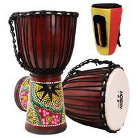 MOSEN 莫森 12英寸 桃花芯木非洲鼓 演奏款 颜色随机+大礼包