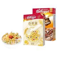 PLUS会员:Kellogg's 家乐氏 泰国进口麦片 谷维滋310g+谷脆格300g
