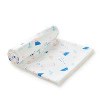 Purcotton 全棉时代 婴儿针织隔尿垫 粉蓝火山 90*70cm