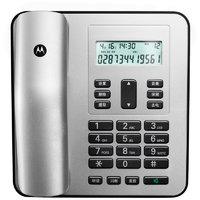 摩托罗拉(Motorola)电话机座机固定电话 办公家用 来电显示 免电池 大屏幕CT310C(银色)