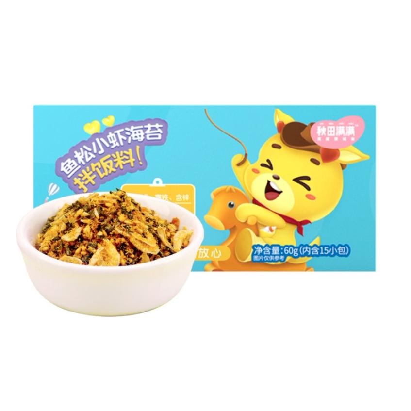 秋田满满 儿童虾鱼肉松海苔调味料 60g