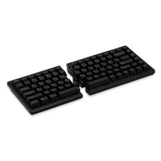 BAROCCO MISTEL密斯特MD770分离式机械键盘人体工学键盘分体式键盘樱桃轴吃鸡游戏键盘 黑色RGB版 Cherry红轴