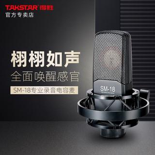 得胜(TAKSTAR) SM-18标配+MX1 pro声卡