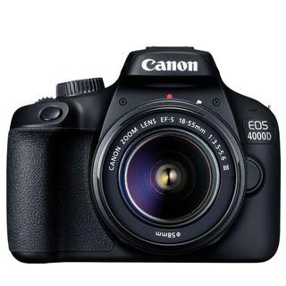Canon 佳能 EOS 4000D 单反相机 APS画幅 入门级高清数码照相机 3000D同款新款 单机 18-55mm III镜头