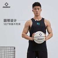 准者篮球背心运动训练跑步健身速干美式宽松大码无袖上衣男士夏季 lZ120110304青柠绿