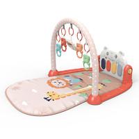 婴儿脚踏电子琴卡通老虎钢琴健身架3-18月新生儿早教音乐玩具1套