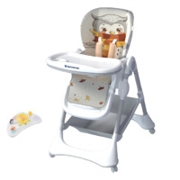 karmababy E101 宝宝餐椅+音乐餐盘 Gentry-pro款 猫头鹰