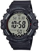 CASIO 卡西欧 Casio 卡西欧 男式石英树脂表带,黑色,27.63 休闲手表(型号:AE-1500WH-1AVCF)