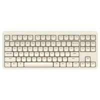 iKBC S300 奶糖款 87键 2.4蓝牙 双模无线机械键盘 牛乳浅咖 ttc红轴 无光