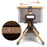 elittile 逸乐途 COZY 婴儿床 智能电动版 木纹灰