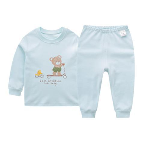 LABI BABY 拉比 LTEA100435 儿童圆领套装 几何小熊款