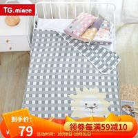 儿童纯棉六层纱布床垫盖毯被子6层 110*110cm