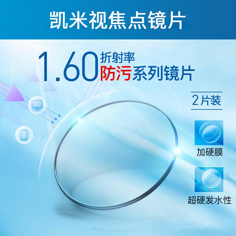 CHEMILENS 凯米 1.60u2膜层非球面镜片2片(送康视顿150元内镜框一副)