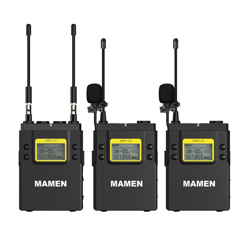 慢门(MAMEN)无线麦克风短视频专用领夹式无线小蜜蜂手机相机直播vlog拍摄采访专业收录音话筒WMIC-01-K2