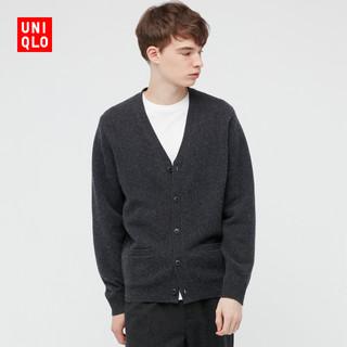 UNIQLO 优衣库 男装/女装 柔软绵羊毛V领针织开衫(长袖毛衣薄外套)438790
