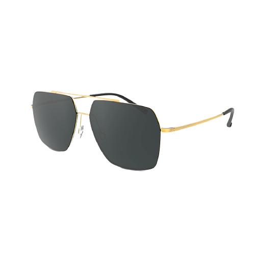 PROSUN 保圣 男女款太阳镜 PS7033C60 光黄金框绿片