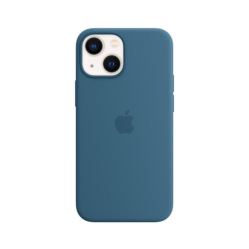 Apple iPhone 13 mini 专用 MagSafe 硅胶保护壳 iPhone保护套 手机壳 - 雀羽蓝色