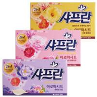 韩国正/品舒服蓝纸巾洗衣香纸柔顺衣物持久留香单盒